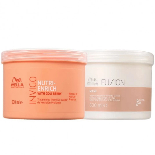Kit Masc Nutri-Enrich + Fusion 2x500ml Wella