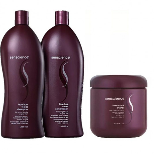 Kit Senscience True Hue Violet 1l + Másc Inner Intensif 500g