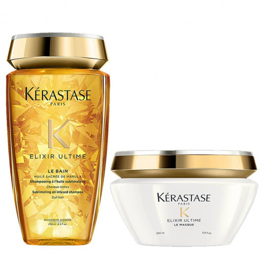 Kit Kérastase Elixir Ultime Le Bain Shampoo 250 ml Máscara 200 ml