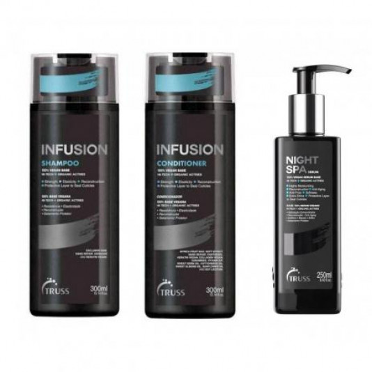 Truss Infusion Kit Shampoo Condicionador e Night SPA