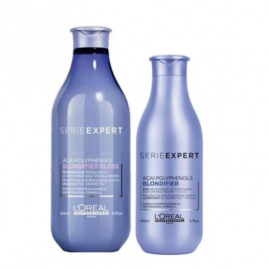 KIT L'OREAL BLONDIFIER SHAMPOO GLOSS 300 ML E CONDICIONADOR 200 ML