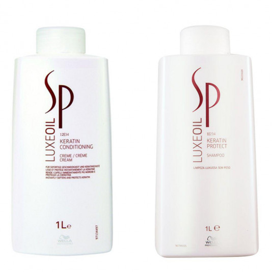 Kit Wella Sp Luxe Oil Keratin Shampoo E Condicionador 1 L