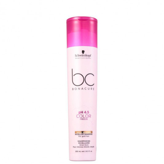 Schwarzkopf Bonacure Color Freeze Gold Shimmer Micellar Shampoo 250 ml