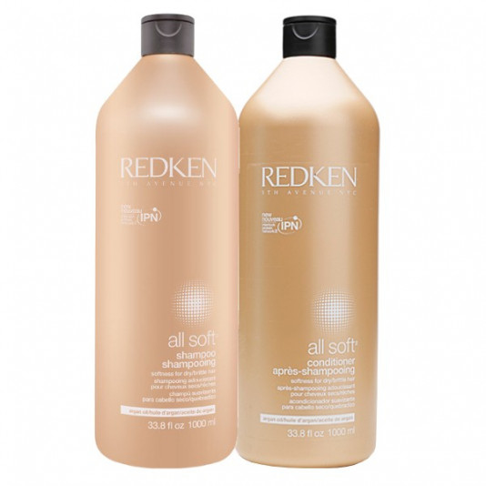 Redken All Soft Kit Shampoo 1 Litro e Condicionador 1 Litro