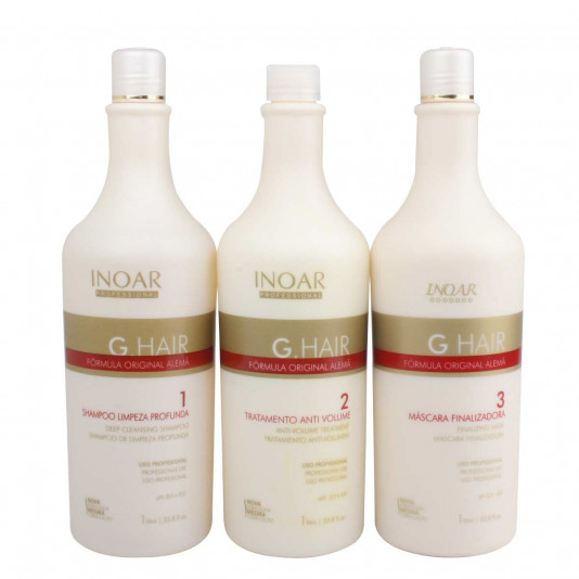 Inoar G Hair Escova Progressiva Inteligente Alemã (3 X 1000 ml)