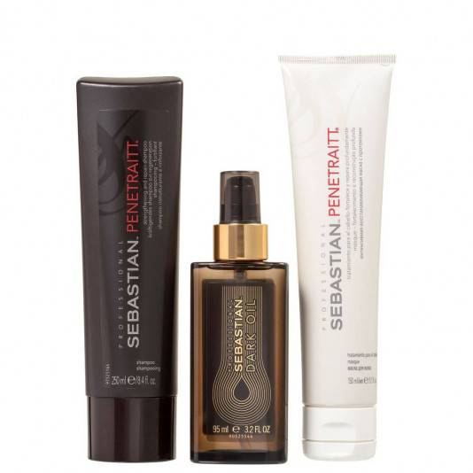 Kit Sebastian Penetraitt Shampoo 250ml + Máscara 150ml + Óleo Dark Oil 95ml