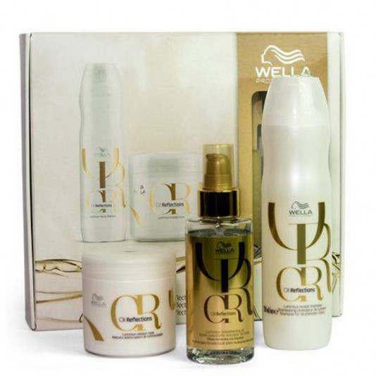 Kit Wella Oil Reflections Shampoo 250 ml + Máscara 150 ml + Óleo 100 ml