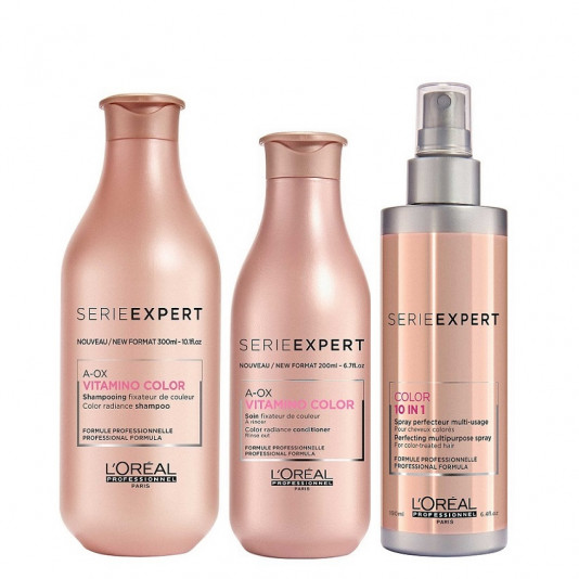 Loreal  Vitamino Color A-OX Shampoo 300 ml, Condicionador 200 ml  e Leave-in 190 ml