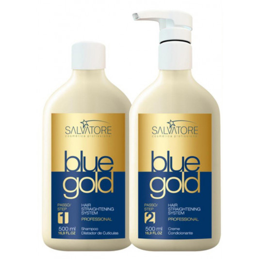 Salvatore Blue Gold Escova Progressiva Italiana (2 X 500 ml)