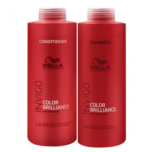 Kit Wella Invigo Color Brilliance Shampoo 1L e Condicionador 1L