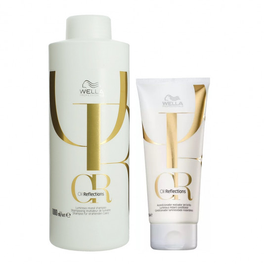 Kit Wella Oil Reflectios Shampoo 1 Litro e Condicionador 200ml