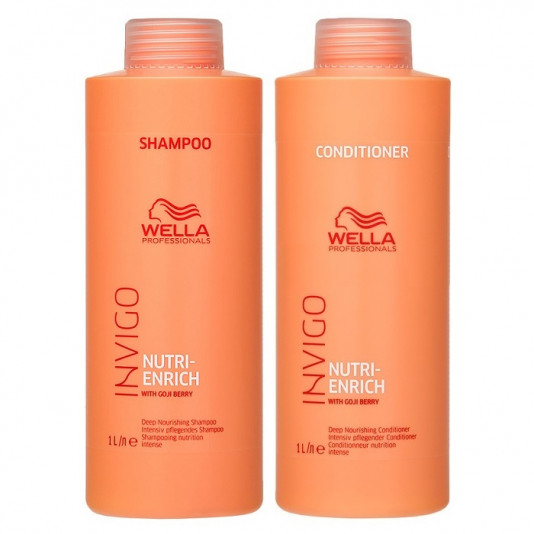 Wella Enrich Invigo Kit Shampoo e Condicionador 1000ml Novo
