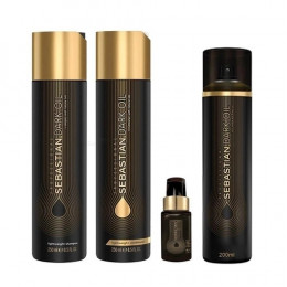 Sebastian Dark Oil kit (Sh 250ml + Cond 250ml + Óleo 30ml + Fragancia 200ml)