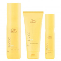 Wella Invigo Sun  Shampoo 250 ml Condicionador 200 ml e Spray 150 ml