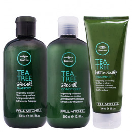 Kit Manutenção  Paul Mitchell Tea Tree Special Shampoo + Condicionador e Hair and Scalp