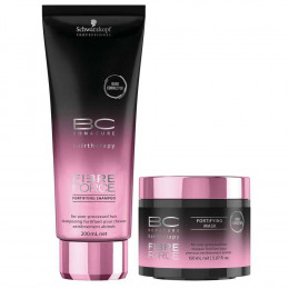 Schwarzkopf Bonacure Fibre Force Kit Shampoo 200 ml e Máscara 150 ml