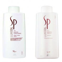 Kit Wella SP Luxe Oil Keratin Shampoo + Condicionador 1000ml