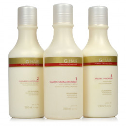 Inoar G Hair Escova Progressiva Inteligente Alemã (3 X 250 ml)
