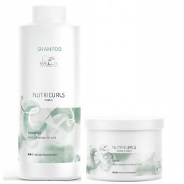 Wella Nutricurls Shampoo 1 Litro e Máscara 500 ml