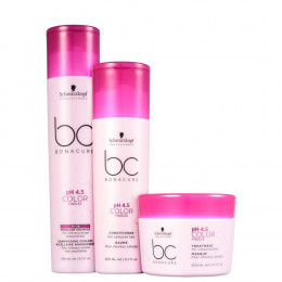 Kit Schwarzkopf Bonacure Color Freeze Rich Micellar Shampoo 250 ml Condicionador 200 ml e Máscara 200 ml