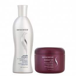 Kit Senscience Smooth Shampoo 300ml + Moisture Lock 150ml