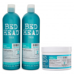 Kit Tigi Bed Head Recovery Shampoo 750ml Condicionador 750ml e Máscara 200g