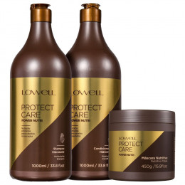 Lowell Protect Care Kit Grande (Shampoo, Condicionador e Máscara)