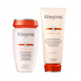 KIT KERASTASE NUTRITIVE MAGISTRAL BAIN 250ML + FONDANT 200ML