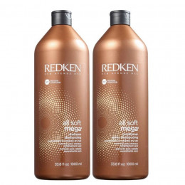 Kit Redken All Soft Mega Shampoo 1l + Condicionador 1l