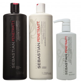 Sebastian Kit Penetraitt Shampoo 1000ml + Condicionador 1000ml + Máscara 500ml