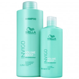 Kit Wella Professionals Invigo Volume Boost Shampoo 1 Litro e Máscara 500 g