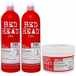 Kit Tigi Bed Head Resurrection Shampoo 750ml Condicionador 750ml e Máscara 200g