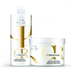 Wella Oil Reflection Shampoo 1 Litro Máscara 500 ml