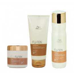 Kit Wella Professionals Fusion Shampoo 250ml + Condicionador 200ml + Mascara 150ml