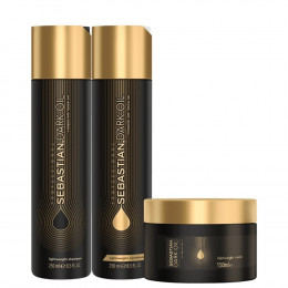 Kit Sebastian Professional Dark Oil - Shampoo 250ml + Condicionador 250ml + Máscara 150ml